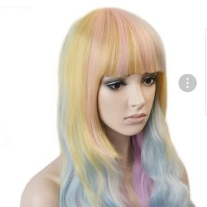 Accessories - Colorful blonde pastel synthetic wig